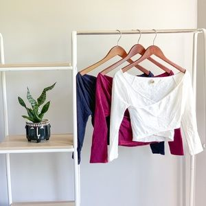Bundle of 3 Hollister crop tops